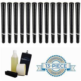 Jumbomax Medium Black Grippipakkaus- 13 grippiä, rubber vice clamp, neste, teippi, pyyhe
