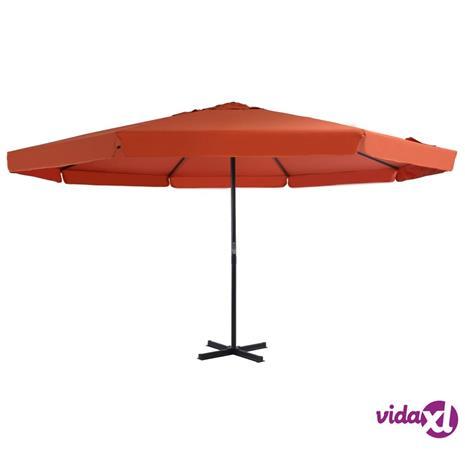 vidaXL Aurinkovarjo alumiinitanko 500 cm terrakotta