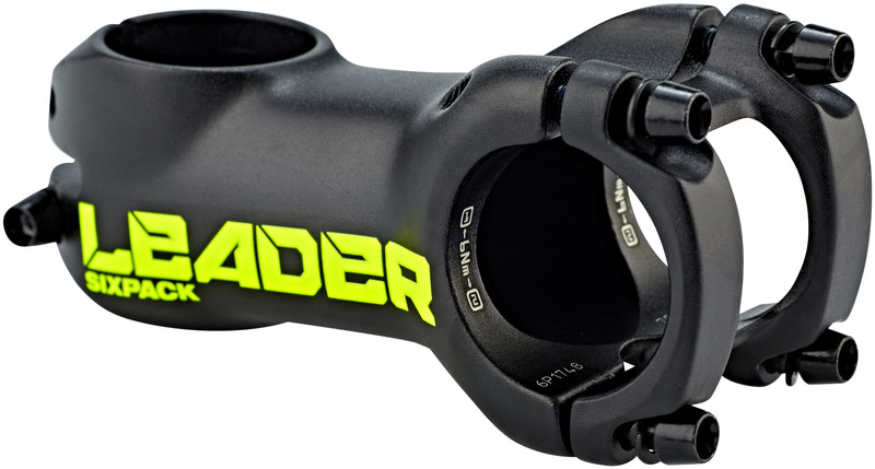 Sixpack Leader stem black/day-glo yellow 70mm