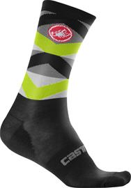 Castelli FATTO 12 winter socks black/yellow fluo 44-47