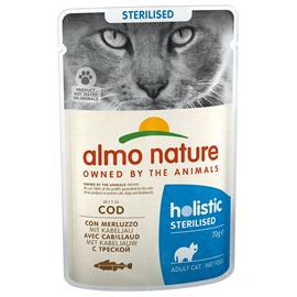 Almo Nature Sterilised Pouch 6 x 70 g - turska