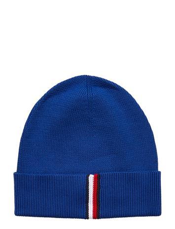 Tommy Hilfiger Th Rib Beanie Accessories Hats & Caps Beanies Musta Tommy Hilfiger BLACK