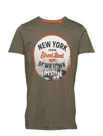 EDC by Esprit T-Shirts T-shirts Short-sleeved Vihreä EDC By Esprit KHAKI GREEN