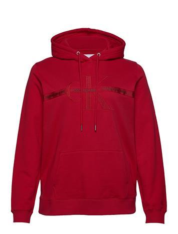 Calvin Klein Jeans Plus Monogram Hoodie Huppari Punainen Calvin Klein Jeans RACING RED