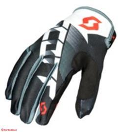 Scott 350 Dirt musta/valkoinen hanskat