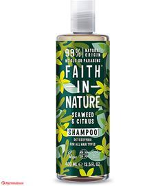 Faith In Nature Merilevä&Sitrus 400 ml shampoo