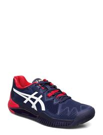 Asics Gel-Resolution 8 Shoes Sport Shoes Training Shoes- Golf/tennis/fitness Sininen Asics PEACOAT/WHITE