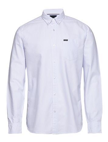 Lindbergh Striped Oxford Shirt L/S Paita Rento Casual Sininen Lindbergh LIGHT BLUE