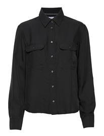 Calvin Klein Jeans Drapey Utility Shirt Pitkähihainen Pusero Paita Musta Calvin Klein Jeans CK BLACK