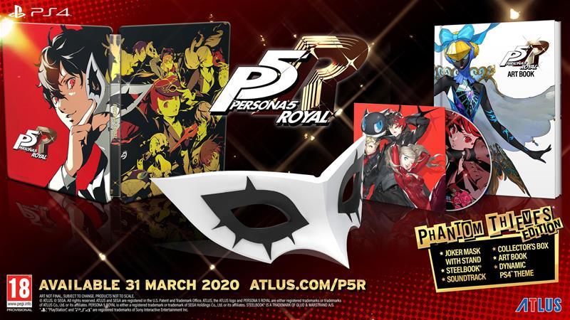 Persona 5 Royal Phantom Thieves Edition, PS4-peli