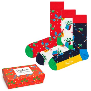 Happy socks 3 pakkaus Playing Holiday Gift Box * Ilmainen Toimitus *