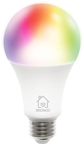 Deltaco Smart Home SH-LE27RGB, WiFi-älylamppu 9 W, E27