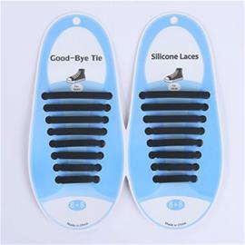 Joustavat silikoniset kengännauhat Unisex - Musta