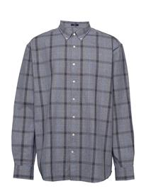 Gant D1. Heather Oxford Plaid Reg Bd Paita Rento Casual Sininen Gant MARINE