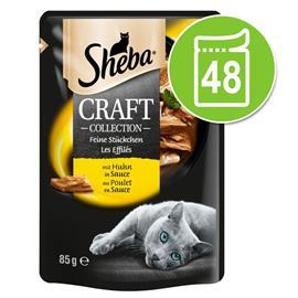 Sheba Craft Collection -säästöpakkaus 48 x 85 g - lihalajitelma kastikkeessa