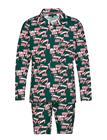 Tommy Hilfiger Ls Tommy Logo Woven Pyjama Monivärinen/Kuvioitu Tommy Hilfiger BOTANICAL GARDEN