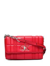 Calvin Klein Re-Lock Flap Xbody Q Bags Small Shoulder Bags - Crossbody Bags Punainen Calvin Klein PROCESS RED