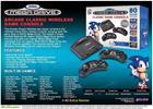 AtGames Sega Mega Drive, retrokonsoli + 80 peliä + 2 langatonta ohjainta