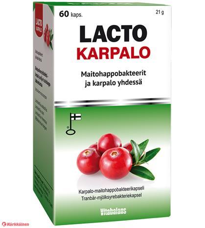 Vitabalans Lacto Karpalo 60 kaps ravintolisä