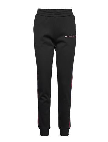 Tommy Sport Fleece Pants With Fast Tape Collegehousut Olohousut Musta Tommy Sport PVH BLACK