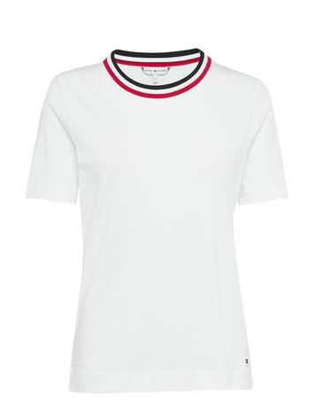 Tommy Hilfiger Th Essential C-Nk Top Ss T-shirts & Tops Short-sleeved Valkoinen Tommy Hilfiger WHITE