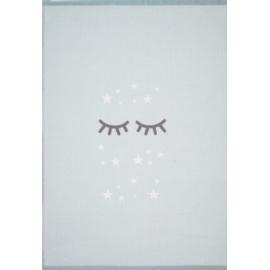 Livone -leikki ja lasten matto Happy Rugs Sleepi ng Silmät, minttu / valkoinen, 100 x 160 cm - turkoosi