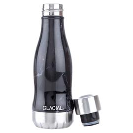 GLACIAL GLACIAL Water Bottle 26 cl, Black Marble