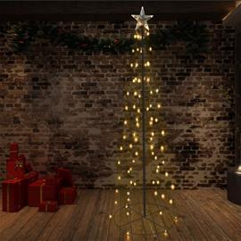 vidaXL Kartionmallinen joulukuusi 140 LEDiä sisä/ulkokäyttöön 72x240cm