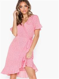 Vero Moda Vmhenna 2/4 Wrap Frill Dress Exp Ga