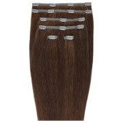 Beauty Works 18 Double Hair Set Clip-In Extensions -klipsipidennykset; 45,72 cm, Chocolate 4/6