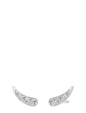 Julie Sandlau Peacock Earstuds / Rhodium Accessories Jewellery Earrings Studs Hopea Julie Sandlau RHODIUM