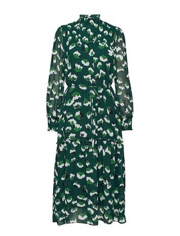 Twist & Tango Aline Long Dress Polvipituinen Mekko Vihreä Twist & Tango GREEN FLOWER