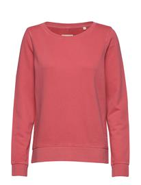 Marc O'Polo Sweat-Shirt, Gmt Dye, Mop Print At Svetari Collegepaita Vaaleanpunainen Marc O'Polo BRIGHT BERRY
