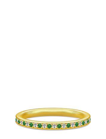 Julie Sandlau Infinity Ring Gold White/Green Accessories Jewellery Bracelets Bangles Kulta Julie Sandlau GOLD / GREEN