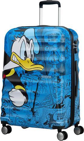 American Tourister Disney Aku Ankka Matkalaukku, Sininen 64L