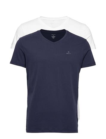 Gant Basic 2-Pack V-Neck T-Shirt T-shirts Short-sleeved Sininen Gant NAVY / WHITE
