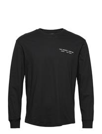 Lee Jeans Ls Graphic Crew T-shirts Long-sleeved Musta Lee Jeans BLACK