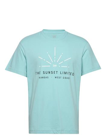 Lee Jeans Sunset Limited Tee T-shirts Short-sleeved Vihreä Lee Jeans FADED MINT