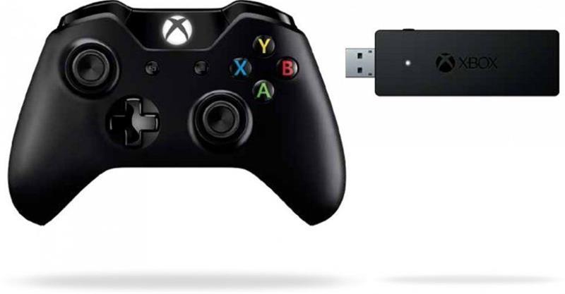 Microsoft Xbox One Wireless Controller, langaton ohjain + adapteri