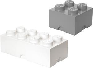 LEGO Säilytyslaatikko, Valkoinen/Harmaa