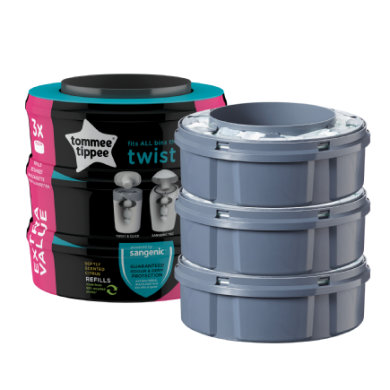 Tommee Tippee, Sangenic Twist & Click Diaper Pale refill 3-p