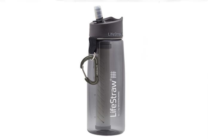 LifeStraw Go 2-Stage Juomapullo Vedensuodattimella, grey