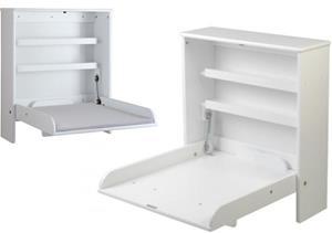 Troll Seinähoitopöytä + Hoitoalusta, Valkoinen/Harmaa