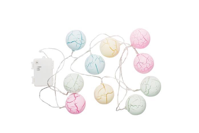 Airam Candy, paristokäyttöinen pallovalosarja, 10 led, IP44, ajastin