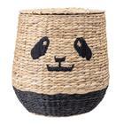 Bloomingville Panda, kannellinen kori 36 x 42 cm