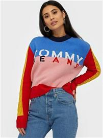 Tommy Jeans Tjw Multicolor Logo Sweater
