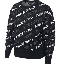Nike W NP CLN FLEECE CREW PRT BLACK/METALLIC SIL
