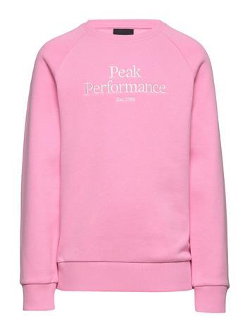 Peak Performance Jr Origc Svetari Collegepaita Vaaleanpunainen Peak Performance MORNING DEW