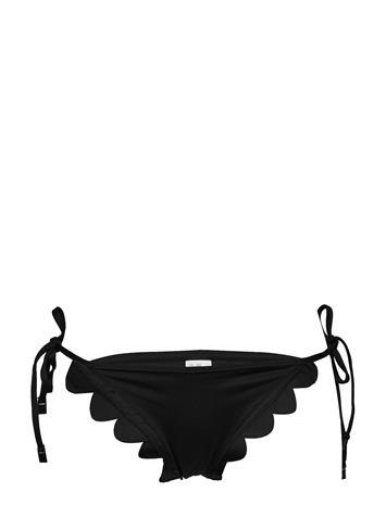 Seafolly Petal Edge Brazilian Tie Side Bikinialaosa Musta Seafolly BLACK