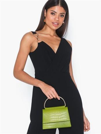 Missguided Detail Snake Chain Boxy Handbag